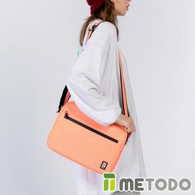 【METODO防盜包】ST Crossbag L不怕割斜背包肩包TSL-804清新橘/耐磨防潑水/旅遊包/休閒包