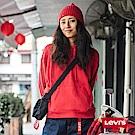 Levis 女款 帽T 寬鬆版型 CNY系列 紅色