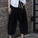 設計所在Style-暗黑中性風拼接層次休閒九分褲