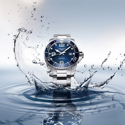 LONGINES  康卡斯潛水運動機械錶(L37824966)藍/43mm