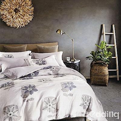 BEDDING-100%天絲萊賽爾-特大6x7薄床包鋪棉兩用被套四件組-午時風
