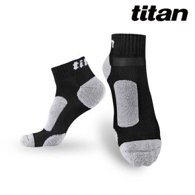 【titan】太肯 3雙功能慢跑訓練襪_黑竹炭(純棉、厚底)