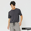 H:CONNECT 韓國品牌 男裝-口袋休閒圓領上衣-藍