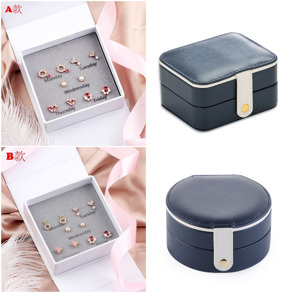 [時時樂限定] 梨花HANA 小資女孩銀針甜蜜耳環五對入+珠寶盒