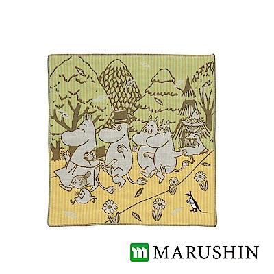 日本丸真Moomin今治三層紗布方巾-漫步森林
