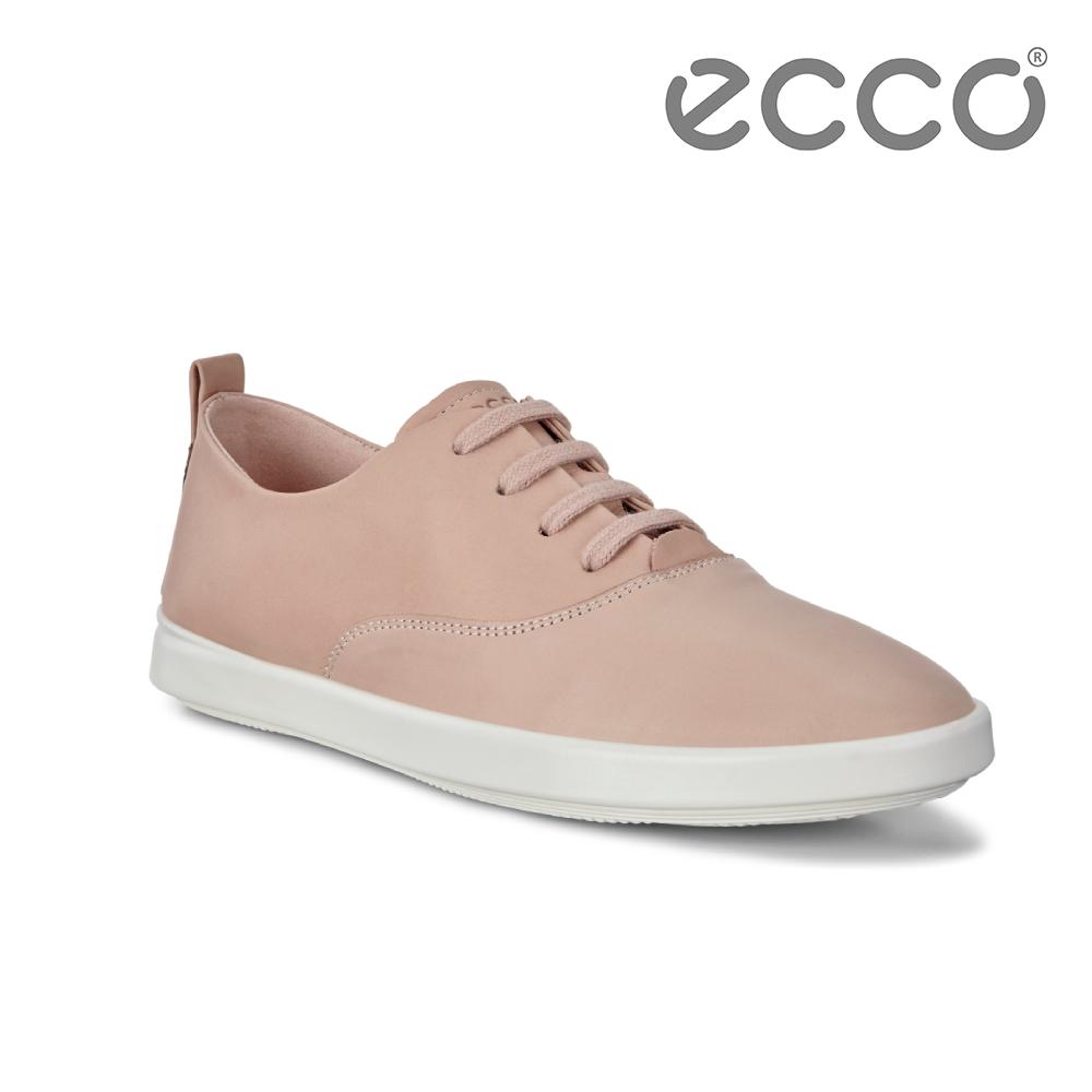 ECCO LEISURE 超柔軟牛皮透氣休閒鞋 女-粉紅