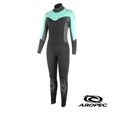 AROPEC Dolphin 女款彈性長袖長褲防寒衣 果綠