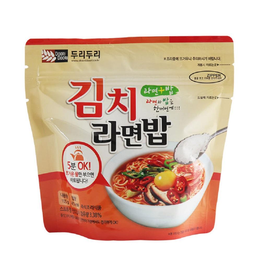 DOORI DOORI泡飯+泡麵 - 韓式泡菜口味  ( 105g/包 )