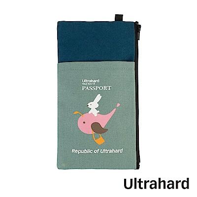 Ultrahard 月見兔手機袋/Plus- 騎鯨魚(藍)