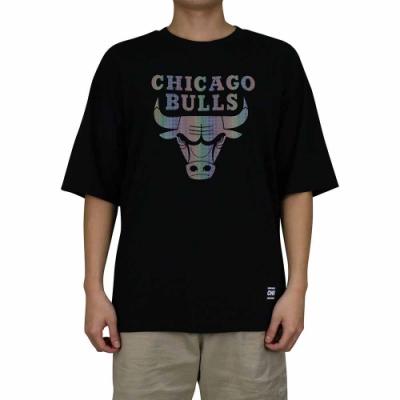 NBA Style C S T-SHIRTS 反光隊徽 短袖上衣 公牛隊