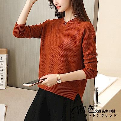 純色圓領套頭針織衫-共5色(F可選)   初色