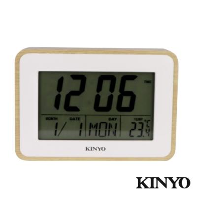 KINYO日式簡約多功能電子鐘TD398