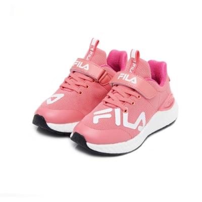 FILA KIDS 大童MD輕量慢跑鞋-粉 3-J809U-511