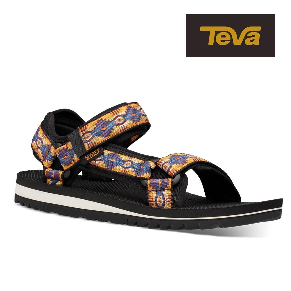 【TEVA】原廠貨 男 Universal Trail 多功能經典運動涼鞋/雨鞋/水鞋(CTC峽谷圖騰藍橘-TV1106786CTCN)