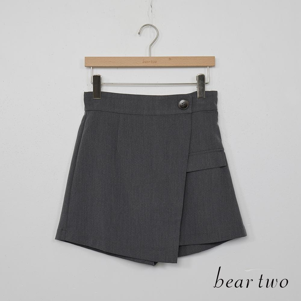 beartwo-簡約俏麗短褲-深灰