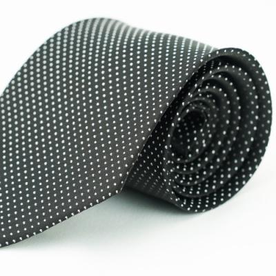 Alpaca 黑底圓點領帶