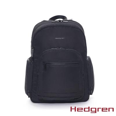 Hedgren INNER CITY 極輕雙側袋 後背包 墨黑