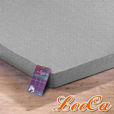 LooCa 黑絲絨竹炭3cm記憶床墊-單大3.5尺
