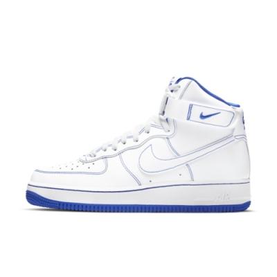 NIKE AIR FORCE 1 HIGH 07 高筒 男休閒鞋-白藍-CV1753101