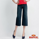 BRAPPERS 女款 女用中低腰八分褲-深藍
