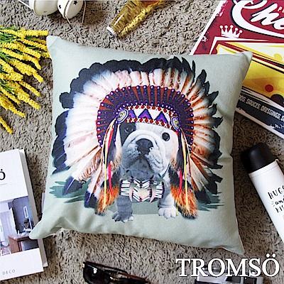 TROMSO 品味英倫棉麻抱枕-印地安法鬥