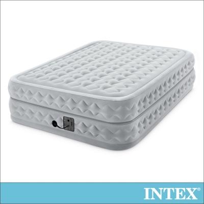 INTEX 豪華菱紋擬真雙氣室雙人加大充氣床墊152x203x高51cm(64489)