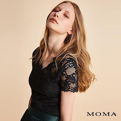 MOMA 蕾絲V領上衣