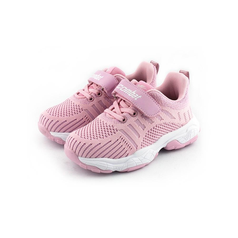 COMBAT艾樂跑童鞋-飛織運動鞋-粉/藍(TD6291)