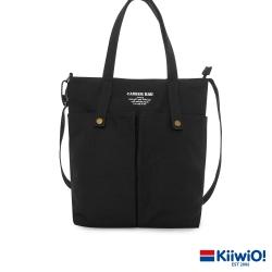 Kiiwi O! 英式經典系列多用帆布托特包 PAG 黑