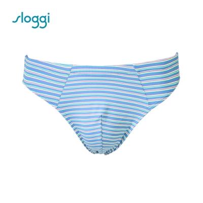 sloggi men Strip系列合身三角褲 冰砂藍 RG918401 B9