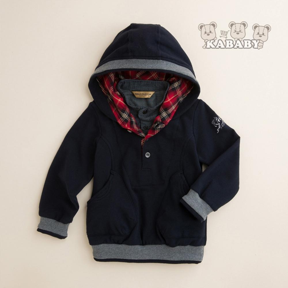 【金安德森】KA 細絨假二件式連帽上衣 (共二色)