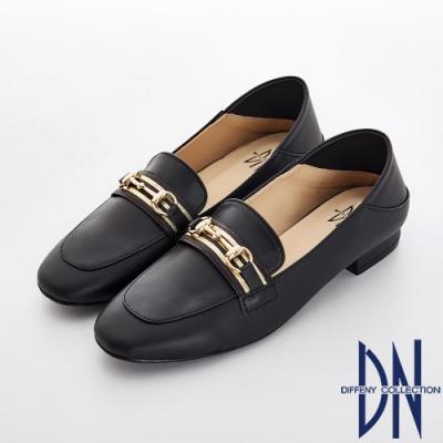 DN 好感輕著 質感金屬樂福休閒鞋-黑