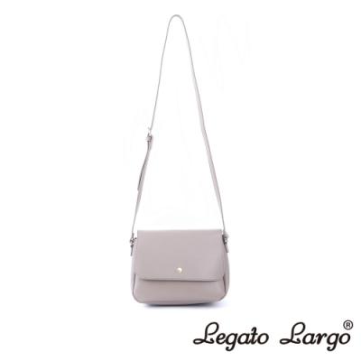 Legato Largo Lusso 別緻復古小金釦翻蓋斜背包 藕粉色