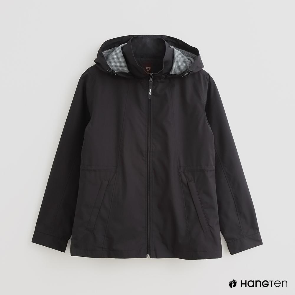 Hang Ten - 女裝 - ThermoContro-素面連帽休閒外套 - 黑