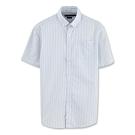 Hang Ten - 男裝 - 防皺都會直條紋襯衫 - 藍