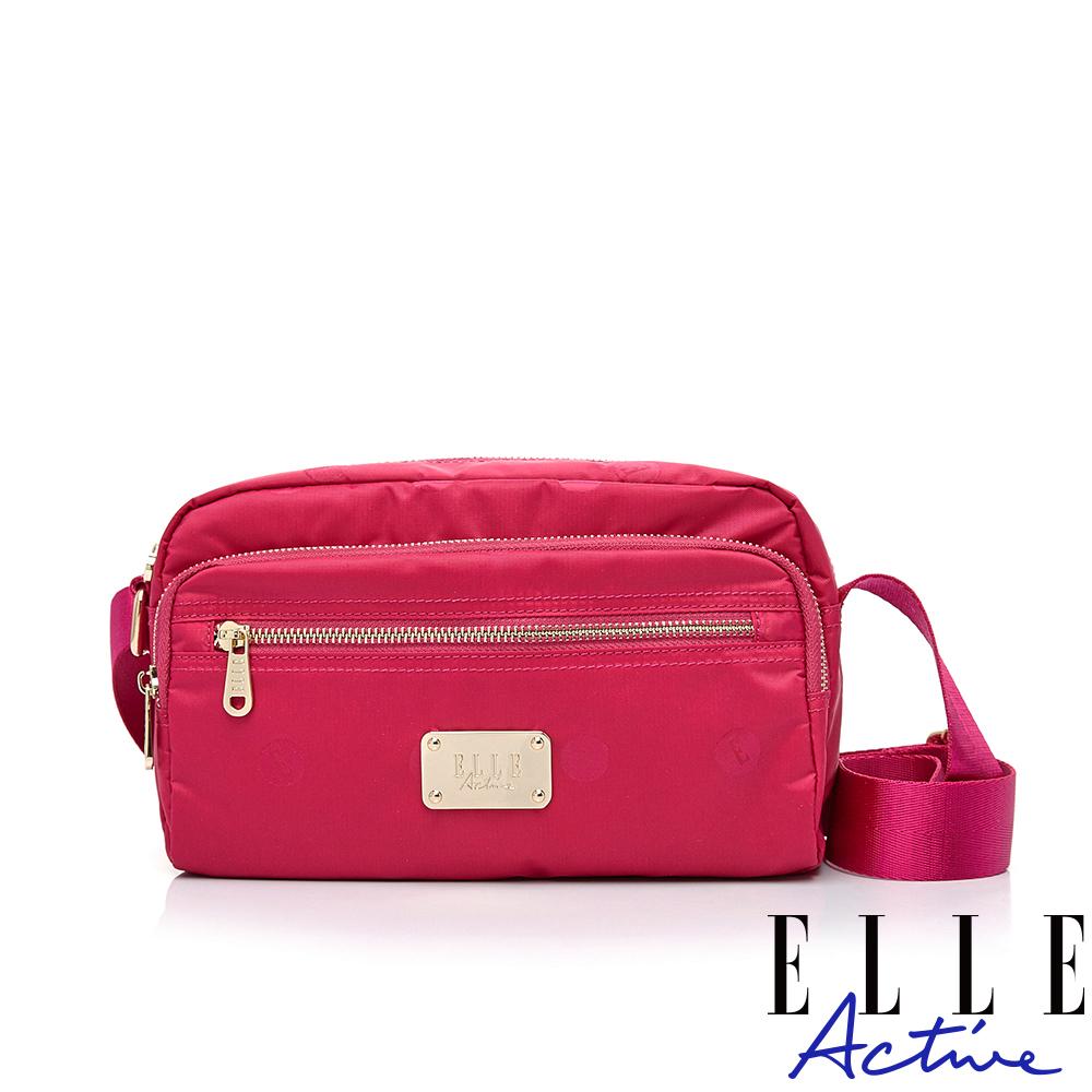 ELLE Active 法式甜心系列-側背包/斜背包-小-桃紅色