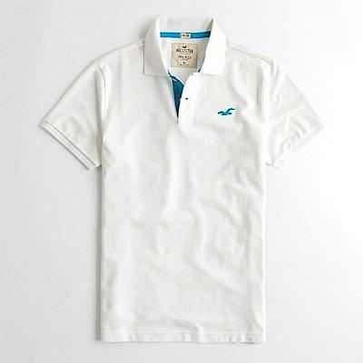 Hollister HCO  短袖 polo 白色 0910