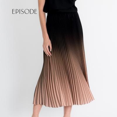 EPISODE - 時髦俏麗漸層色設計百褶裙