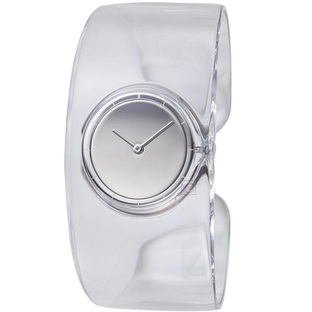ISSEY MIYAKE三宅一生O系列透明手鐲腕錶(SILAW001Y)