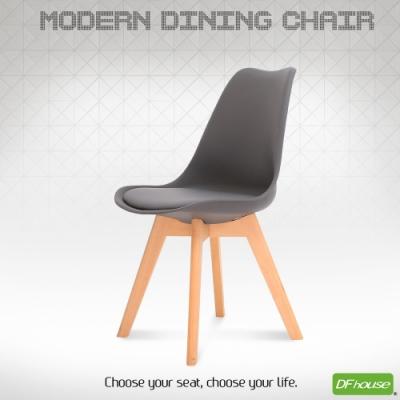 DFhouse翻糖造型餐椅-灰色  48*48*85