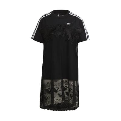 adidas T恤 Lace T-shirts 休閒 女款 愛迪達 蕾絲 Dry Clean Only聯名 穿搭 黑 H59018