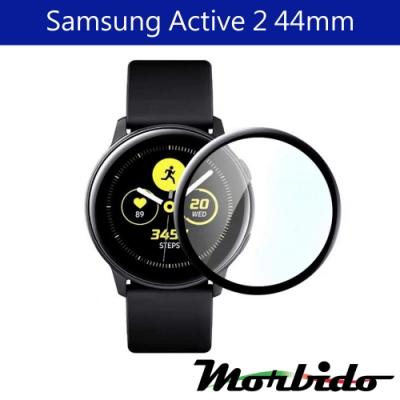 Morbido蒙彼多Samsung Galaxy Watch Active2 44mm黑邊保護貼/1入