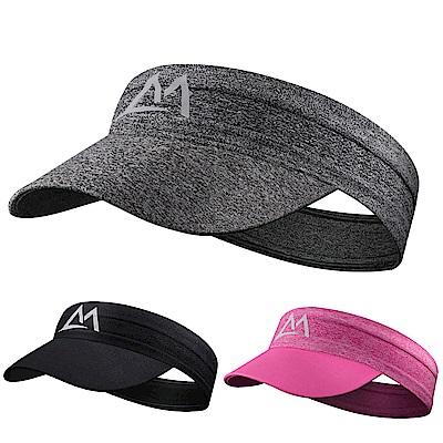 Maleroads 貼心可折疊設計 遮陽帽+導汗帶 二合一防曬好幫手 空頂帽 止汗頭帶