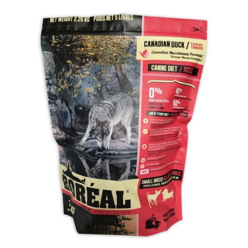 BOREAL 無穀野牧鴨肉 (小顆粒) 全犬配方 5磅(2.26KG)