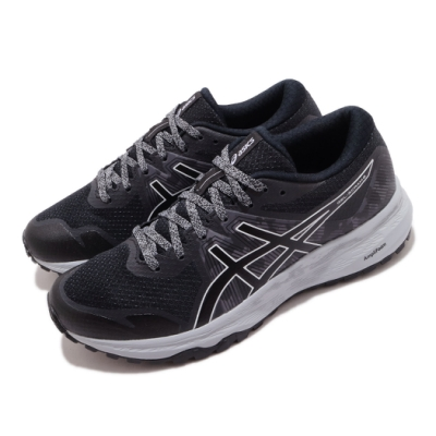 Asics 慢跑鞋 Gel Scram 6 運動 女鞋 亞瑟士 路跑 緩震 野跑鞋 亞瑟膠 黑 灰 1012A730020