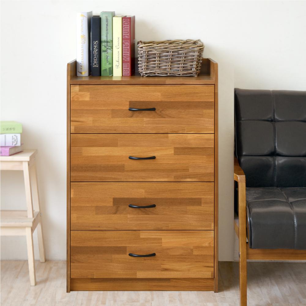 《HOPMA》DIY巧收和風四抽斗櫃/抽屜櫃/收納櫃-寬62 x深45.5 x高90.5cm