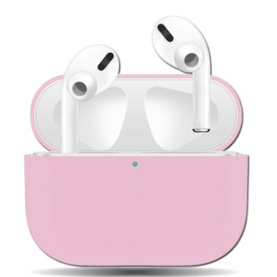 絲滑親膚 極致輕薄 蘋果Apple AirPods Pro 藍牙耳機盒保護套(芭比粉)