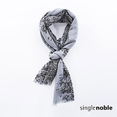 獨身貴族 典藏藝術幾何印花抽鬚圍巾(2色)