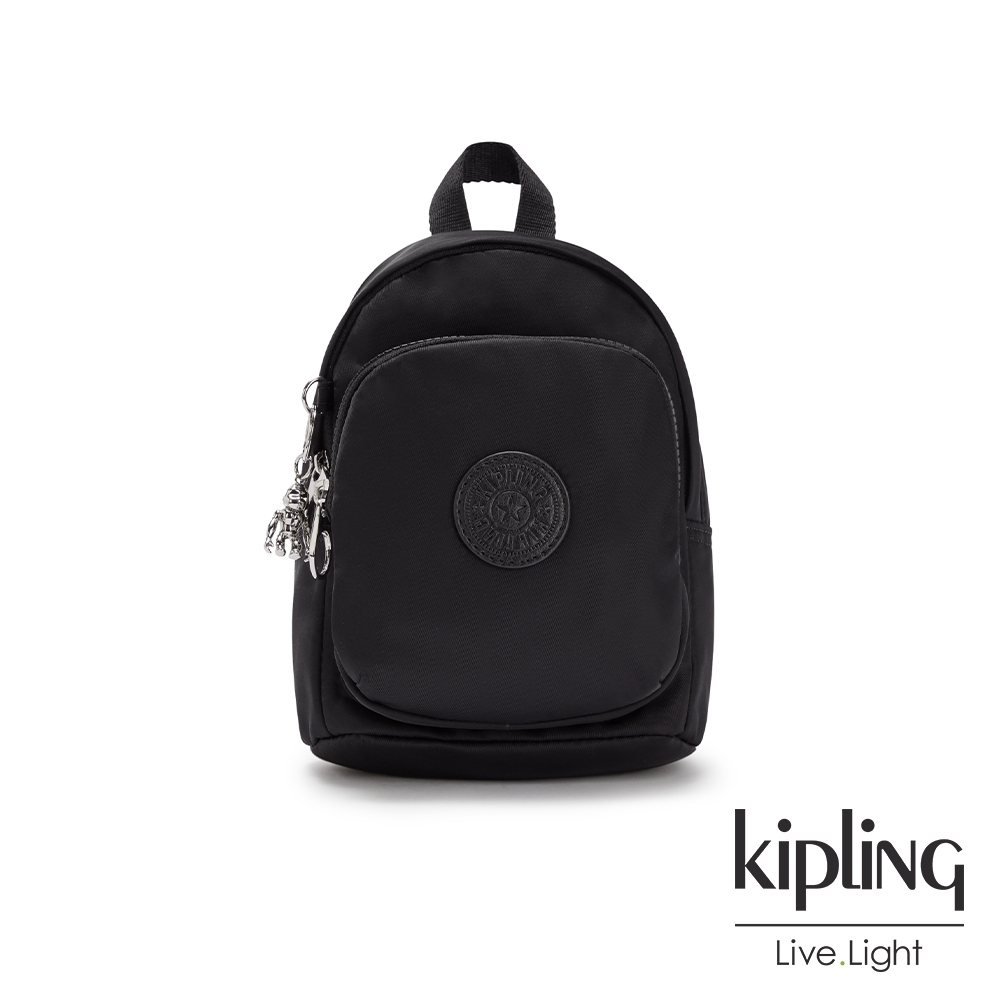 Kipling 低調沉穩黑休閒後背包-DELIA COMPACT
