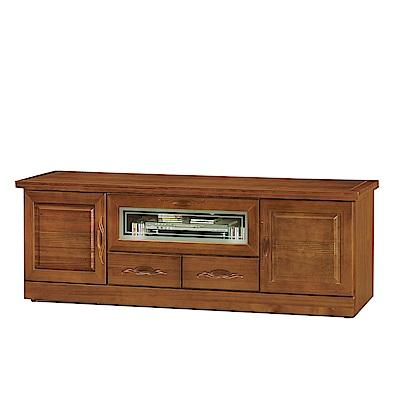綠活居 艾莉坦時尚5.9尺木紋電視櫃/視聽櫃-178x50x62cm-免組